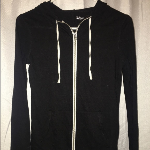 Jackets & Blazers - Thin black jacket , with white strings